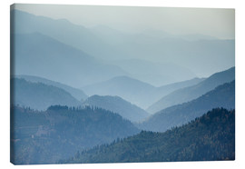 Canvas print  Mountain Landscape in the Mist