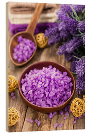 Wood  lavender bath salt