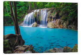 Canvas print  Erawan waterfall