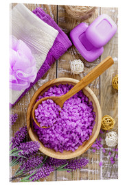 Acrylic print  Purple relaxation