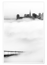 Premium poster  San Francisco disappeared in the fog