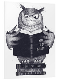 Foam board print  Reading owl - Valeriya Korenkova