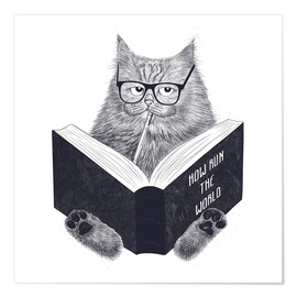Poster  Wise cat - Valeriya Korenkova