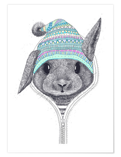 Premium poster Bunny with a hood