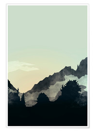 Premium poster Misty Mountain