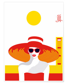 Premium poster Stylish travel - Spain