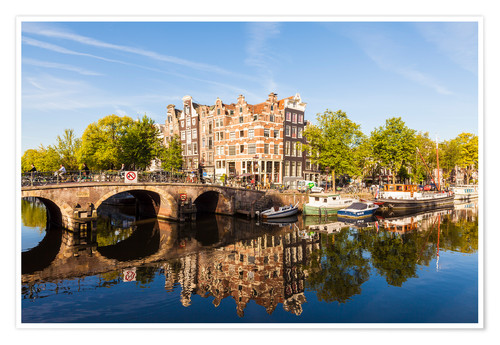 Premium poster Prinsengracht and Brouwersgracht in Amsterdam