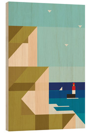 Wood print  Cliffs - Antony Squizzato