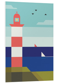 Foam board print  Lighthouse - Antony Squizzato