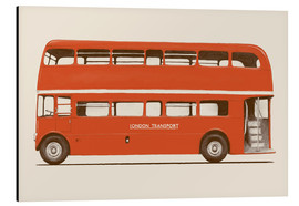Aluminium print  English Bus   S6   Main - Florent Bodart