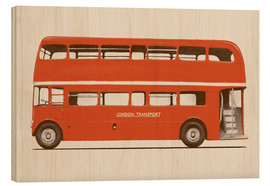 Wood print  English Bus   S6   Main - Florent Bodart