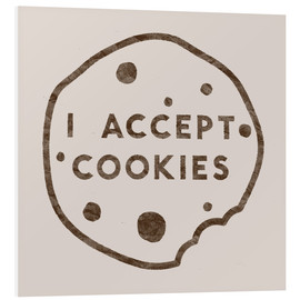 Foam board print  I accept cookies - Florent Bodart