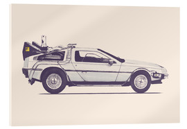 Acrylic glass  Delorean - Florent Bodart