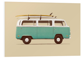 Foam board print  Blue van - Florent Bodart
