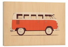 Wood print  Redvan MAIN - Florent Bodart