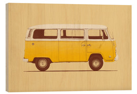 Wood print  Yellow van - Florent Bodart