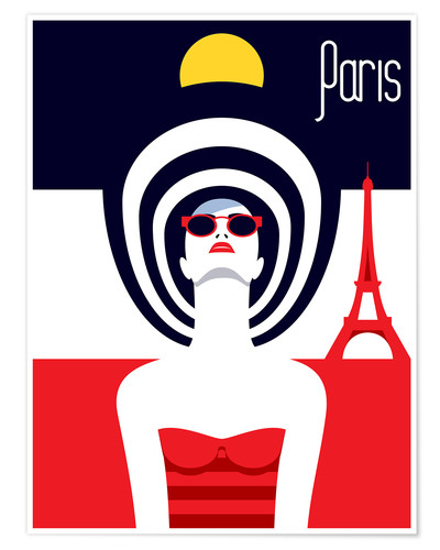 Premium poster Stylish travel - Paris