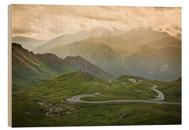 Wood print  Grossglockner High Alpine Road, Austria - Frank Fischbach