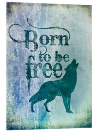 Acrylic glass  born to be free - Andrea Haase