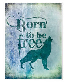 Premium poster born to be free