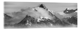 Acrylic print  Mountain with Clouds - Michael Helmer