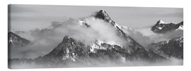 Canvas print  Mountain with Clouds - Michael Helmer