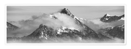 Premium poster  Mountain with Clouds - Michael Helmer