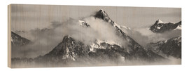 Wood  Mountain with Clouds - Michael Helmer