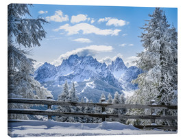 Canvas print  Winter in the Sesto Dolomites, South tyrol, Italy - Christian Müringer