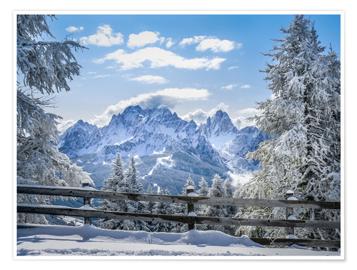 Premium poster Winter in the Sesto Dolomites, South tyrol, Italy