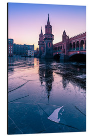 Aluminium print  Oberbaumbrücke with ice floes - Photovojac
