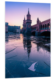 Foam board print  Oberbaumbrücke with ice floes - Photovojac