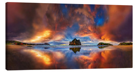 Canvas print  Dream beach Cape Farewell Whanganui New Zealand - Michael Rucker