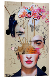 Acrylic glass  Frida for Beginners - Loui Jover