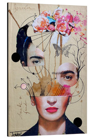 Aluminium print  Frida for Beginners - Loui Jover