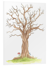 Foam board print  Tree trunk - Nadine Conrad