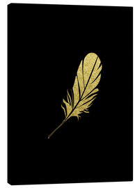 Canvas print  Golden Plume - dear dear
