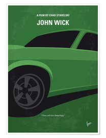Premium poster No759 My John Wick minimal movie poster
