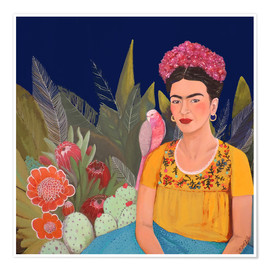 Premium poster  Frida and the blue house II - Sylvie Demers