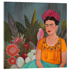 Acrylic glass  Frida at the blue house - Sylvie Demers