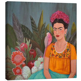 Canvas  Frida at the blue house - Sylvie Demers