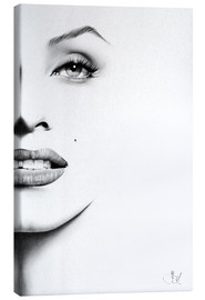 Canvas  Marilyn Monroe minimal portrait - Ileana Hunter