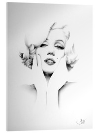 Acrylic glass  Marilyn Monroe - Ileana Hunter
