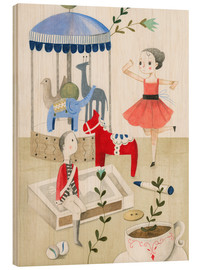 Wood print  The Steadfast Tin Soldier - Judith Loske