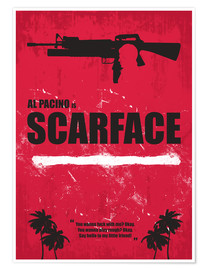 Premium poster Scarface - Minimal Alternative Movie Fanart