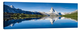Canvas  Stellisee and Matterhorn near Zermatt in the Swiss Alps - Jan Christopher Becke
