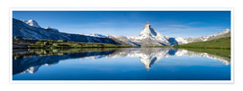 Poster  Stellisee and Matterhorn near Zermatt in the Swiss Alps - Jan Christopher Becke