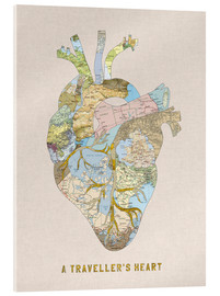 Acrylic glass  A Traveler's Heart II - Bianca Green