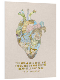 Foam board print  A Travelers Heart + Quote - Bianca Green