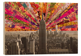 Wood print  BLOOMING NEW YORK - Bianca Green
